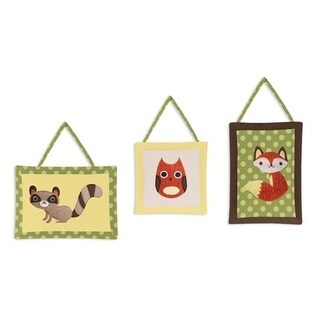 Sweet Jojo Designs Wall Hangings for the Forest Friends Collection (Set of 3)