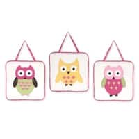 Sweet Jojo Designs Wall Hangings for the Happy Owl Collection (Set of 3)