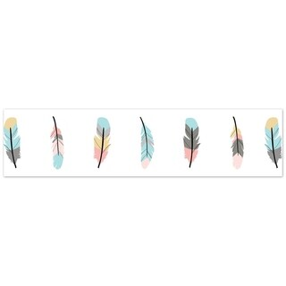 Sweet Jojo Designs Wall Paper Border for the Feather Collection