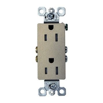 Pass & Seymour Decora Electrical Receptacle 15 amps 125 volts Nickel