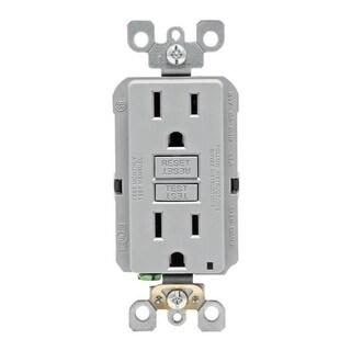 Leviton GFCI Receptacle 15 amps 5-15R 125 volts Gray
