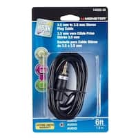 Monster  Just Hook It Up  6 ft. L Stereo Plug Cable  Audio