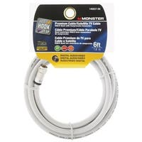 Monster  Just Hookit Up  6 ft. L Weatherproof Video Coaxial Cable