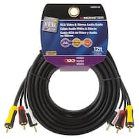 Monster  Just Hook It Up  12 ft. L RCA Video & Stereo Audio Cable  RCA