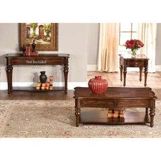 cherry wood end tables living room. Andalusia Vintage Cherry 3 piece Occasional Set  Traditional Coffee Console Sofa End Tables For Less