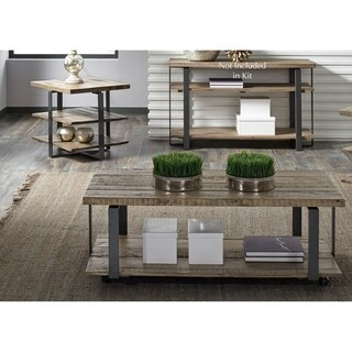 Baja Weathered Rustic Planked Top 3-piece Occasional Set