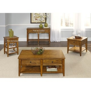 Lake House Oak Transitional 3-piece Occasional