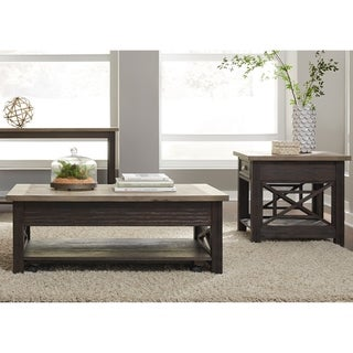 Heatherbrook Charcoal and Ash Lift Top 3-piece Occasional Set