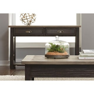 Heatherbrook Charcoal and Ash Drawer Sofa Table