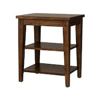 Lake House Rustic Brown Oak Tiered Table