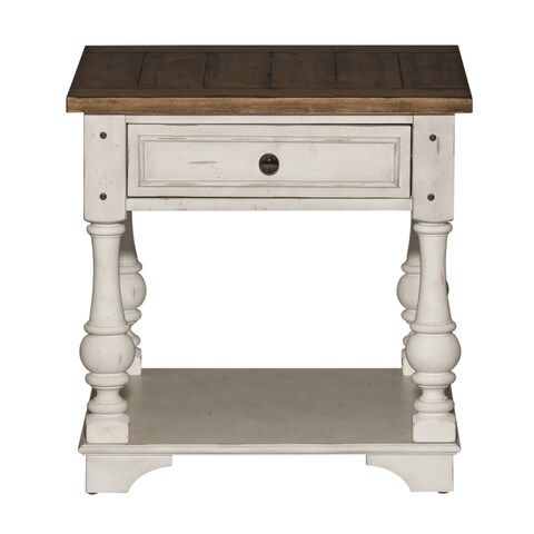 Morgan Creek Antique White and Tobacco End Table