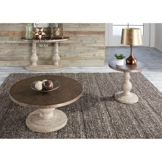 Alamosa Weathered Light Grey and Copper 3-piece Occasional