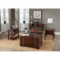 Aspen Skies Russet Brown and Metal Accents Sofa Table