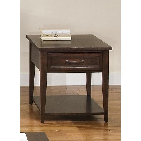 Lakewood Amaretto Rectangular End Table