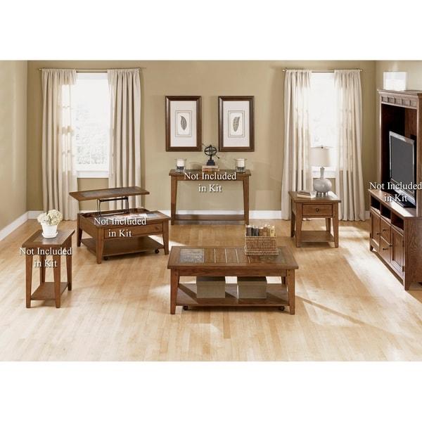 Hearthstone Rustic Oak 3-piece Occasional Set