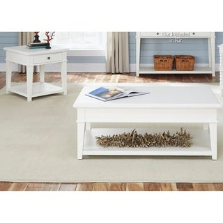 Harbor View White Bead Molding 3-piece Occasional Set