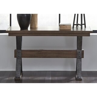 Sonoma Road Weathered Beaten Bark and Metal Sofa Table