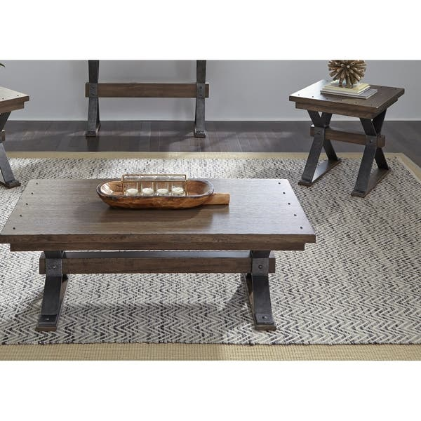 Remarkable Sonoma Road Weathered Beaten Bark And Metal Sofa Table Machost Co Dining Chair Design Ideas Machostcouk