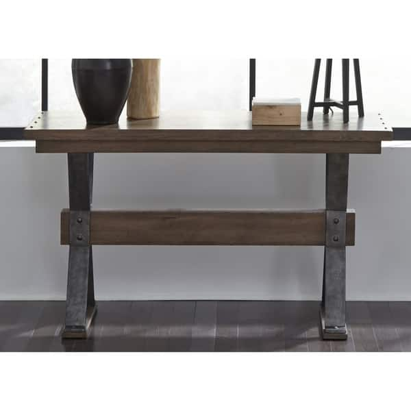 Cool Sonoma Road Weathered Beaten Bark And Metal Sofa Table Machost Co Dining Chair Design Ideas Machostcouk