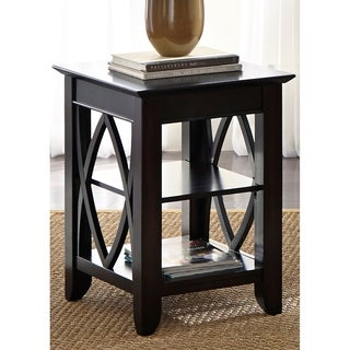 Piedmont Dark Mocha Metropolitan Shelf End Table