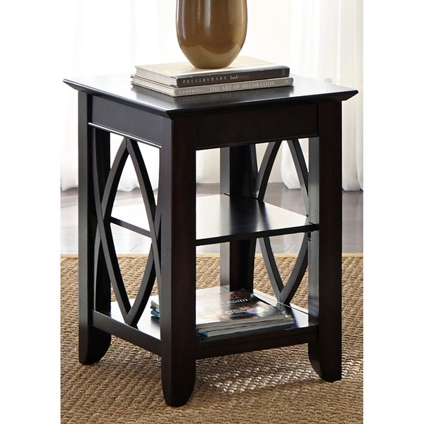 Liberty Piedmont Dark Mocha Metropolitan Shelf End Table