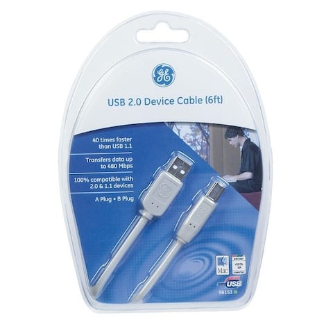 GE 6 ft. L USB Cable