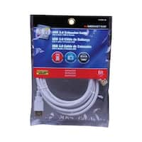 Monster Just Hook It Up  6 ft. L White  USB Cable