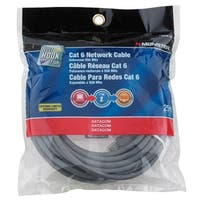 Monster  Gray  25 ft. L Networking Cable