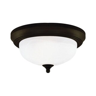 Westinghouse Naveen Oil Rubbed Bronze Ceiling Fixture 6 in. H x 13 in. W