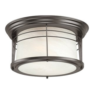 Westinghouse Weathered Bronze Ceiling Fixture 7-1/2 in. H x 13-1/4 in. W