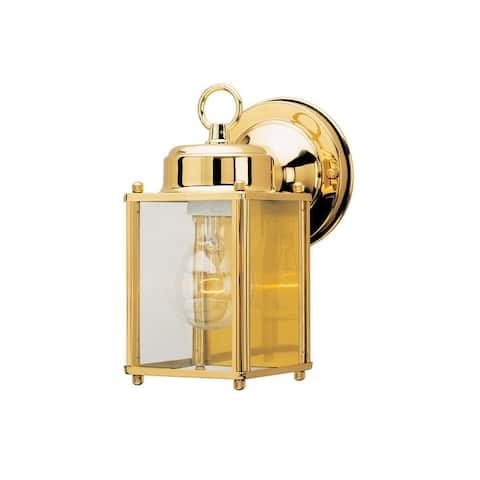 Westinghouse Polished Brass Outdoor Wall Lantern Fix