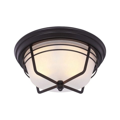 Westinghouse Weathered Bronze Ceiling Fixture 7 in. H x 13-3/4 in. W