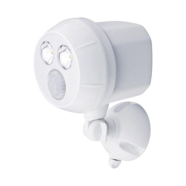 Mr Beams White Plastic Spotlight Motion-Sensing LED (Metal)