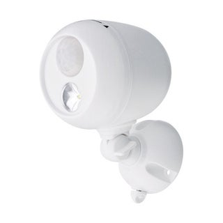 Mr. Beams  White  Plastic  Outdoor Security Light  Motion-Sensing  LED