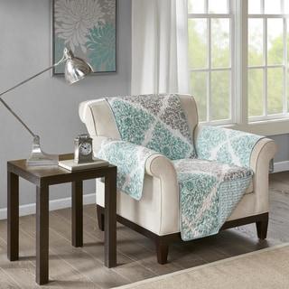 Madison Park Montecito Aqua Reversible Printed Arm Chair Protector