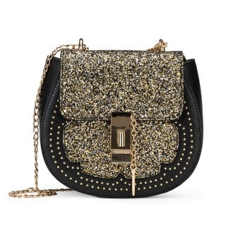 Olivia Miller The Canto Saddle Glitter Flap