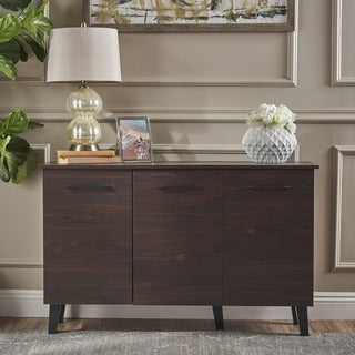 Link to Emlyn Mid Century Modern Wood Cabinet by Christopher Knight Home Similar Items in Media Cabinets