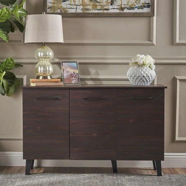 Emlyn Mid Century Modern Wood Cabinet by Christopher Knight Home. Opens flyout.
