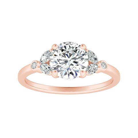 Auriya 14k Gold 1/2ct TDW Nature Inspired Vintage Floral Diamond Engagement Ring