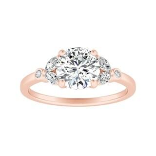 Auriya 14k Gold 1/2ct TDW Vintage Nature Inspired Diamond Flower Engagement Ring