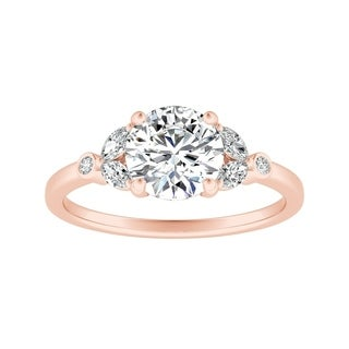 Auriya 14k Gold 1/2ct TDW Nature Inspired Vintage Floral Diamond Engagement Ring