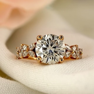 Auriya 14k Gold 1ct TDW Round Diamond Vintage Engagement Ring - White H-I