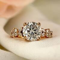 Auriya 14k Gold 1-carat TDW Vintage Nature Inspired Diamond Engagement Ring