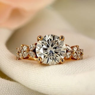Auriya 14k Gold 1-carat TDW Vintage Nature Inspired Diamond Engagement Ring