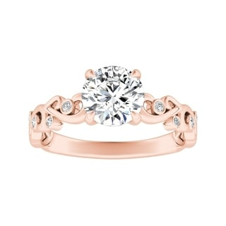 Auriya 14k Gold 1/2ct TDW Round Diamond Vintage Engagement Ring - White H-I