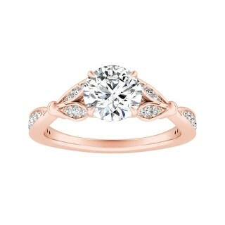 Auriya 14k Gold 1ct TDW Vintage Nature Inspired Diamond Flower Engagement Ring (More options available)