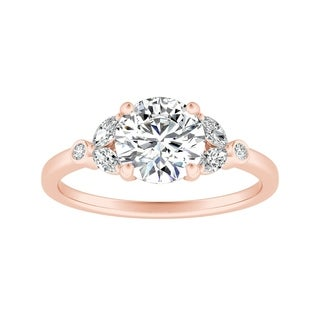 Auriya 14k Gold 1ct TDW Vintage Nature Inspired Floral Diamond Engagement Ring
