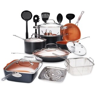 Gotham Steel 20 Piece Cookware House Set Non-stick Copper