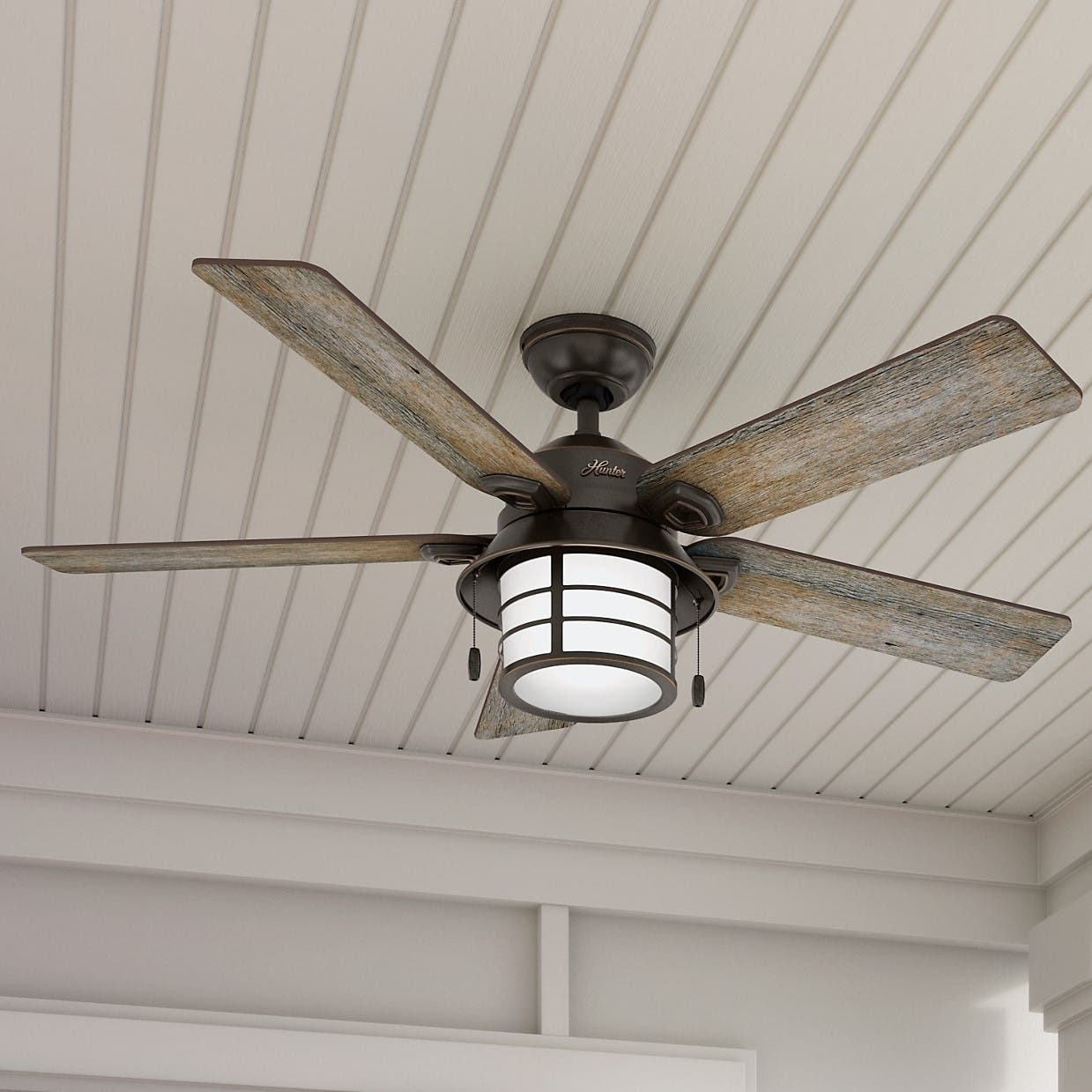 Hunter Isleworth 54 Onyx Bengal Ceiling Fan With Light At: Buy Ceiling Fans Online At Overstock.com