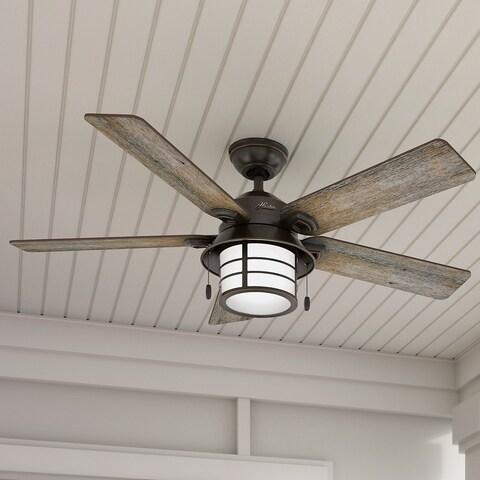 Hunter Key Biscayne 54-inch Onyx Fan